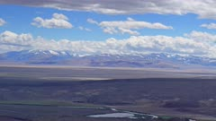 timelapse landscape with clouds moving over mountain valley - Altay Russia, 4k