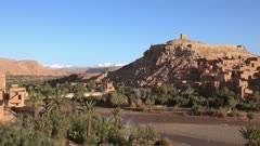 Kasbah Ait Ben Haddou in the Atlas Mountains, Morocco, panorama 4k
