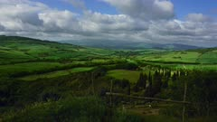 Tuscany landscape with farmland hill fields in Italy, Europe, timelapse 4k