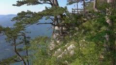View from famous Banjska stena on Drina river in Tara National Park, Serbia, panorama 4k