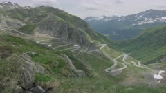 Old Gotthard Pass / Tremola in the Swiss Alps in summer