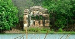 General view shot of Ranthambore lake Rajbagh building