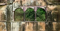 Closeup of Ranthambore lake Rajbagh building