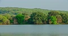 General view of Ranthambore forest lake area