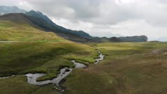 Wilderness, alpine, iceland, aerial, beautiful, peacefull, quiet, nature, 4K