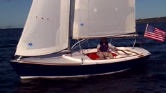 Sailboat Tacking Upwind