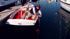 Man Removes Electric Motor From Sailboat