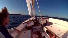 Sailboat Onboard, Wide Angle, Looking Forward