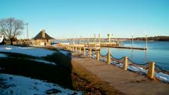 Winter Harbor Scene