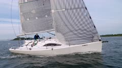 Sailing upwind Singlehanded prepping Spinnaker