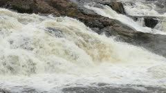 High debit of water cascading down the waterfalls of this powerful river
