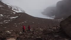 Time lapse of scientists surveying rocky terrain in Beacon Valley in Antarctic Dry Valleys