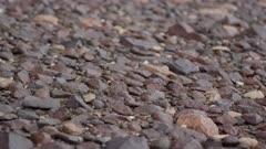 Ancient eroded cobblestone rock terrain in Antarctic Dry Valleys