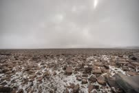 Time lapse of windy blizzard storm coming up Beacon Valley in the Antarctic Dry Valleys