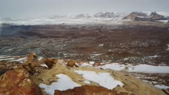 Sandstone ventifacts and interesting rock formation of the Labyrinth in Antarctic Dry Valleys