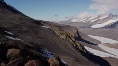 Looking out over Taylor Glacier Valley and Blood Falls in the Antarctic Dry Valleys