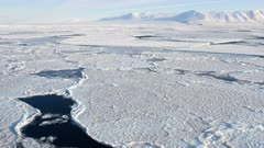 Sea Ice Formation, Erebus (in far distance), McMurdo, Ross Sea, Antarctica