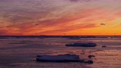 Dawn Ice Bergs Antarctica