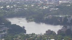Brisbane City, River, View, from Mt Coot-Tha Lookout, Australia
