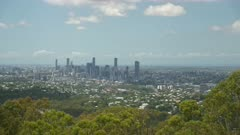 Brisbane City View, from Mt Coot-Tha Lookout, Australia