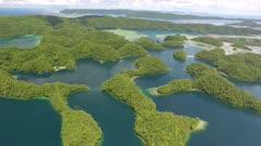 Nikko Bay, Palau, aerial