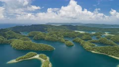 Aerial Hyperlapse over Palau Rock Islands