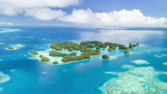 Palau 70 islands aerial Hyperlapse
