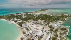 Aerial shot of Christmas Island in Kiribati