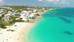 Aerial shot of south coast of Bermuda
