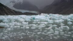 Floating glacial ice