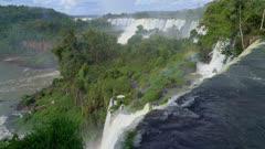 Iguazu Falls upper cataract and rainbow