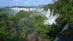 Iguazu Falls and rainbow