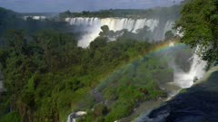 Iguazu Falls upper cataract and rainbow