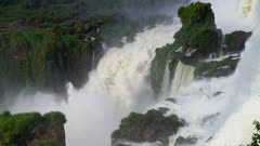 Iguazu Falls middle cataract and rising mist