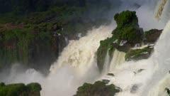 Iguazu Falls middle cataract and rising mist