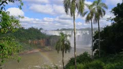 Iguazu Falls lower cataract and rainbow