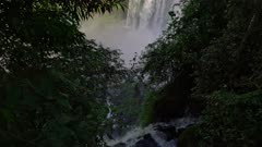Iguazu Falls lower cataract and mists