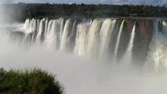 Iguazu Devil's Throat Falls and rainbow