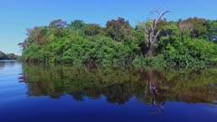 Moving up Amazon tributary