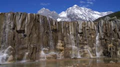 Waterfall at Jade Dragon Snow Mountain