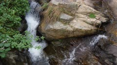 Small Chinese Mountain stream waterfall