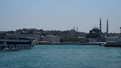 Istanbul Boat traffic on the Bosporus