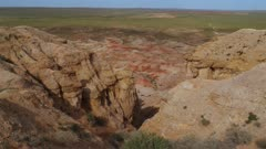 Colorful Mongolian desert canyon