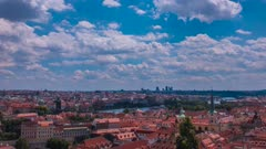 Time Lapse clouds over Prague from the Castle