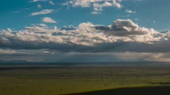 Time Lapse of clouds moving over an African Savannah