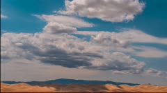 Time Lapse clouds over Gobi Desert Dunes