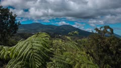 Time Lapse clouds over Costa Rican Mountains