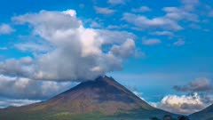 Time Lapse clouds over Costa Rican Volcano