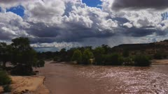 Muddy rushing waters of Galana River