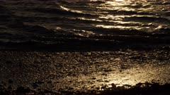 Sunset Sunlight sparkles on inshore waters